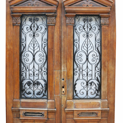 Pair Of Grand Building Entrance Doors