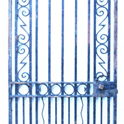 Heavy 19th Century Wrought Iron Pedestrian Gate