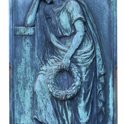 A Finely Cast Bronze Wall Plaque Of A Classical Figure