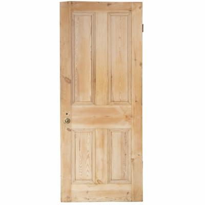 Reclaimed Solid Pine Door Stripped - 193.5cm x 75cm