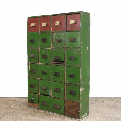 Original Victorian Multi Drawer Shop Fitting