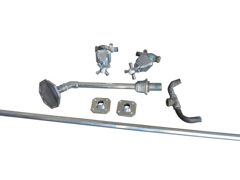 Chrome Plated Shanks Shower Rose Head With Taps & Curtain Rail