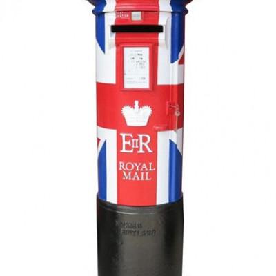 Original Limited Edition ER II Union Jack Pillar Box