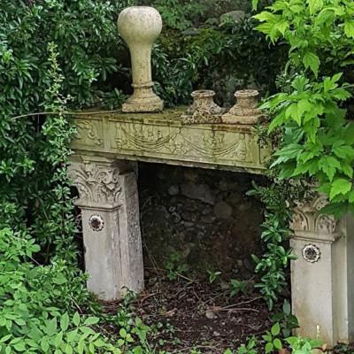 Antique Renaissance Stone Fireplace