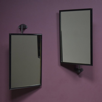 Vintage Wall Mounted Adjustable Opticians Mirrors
