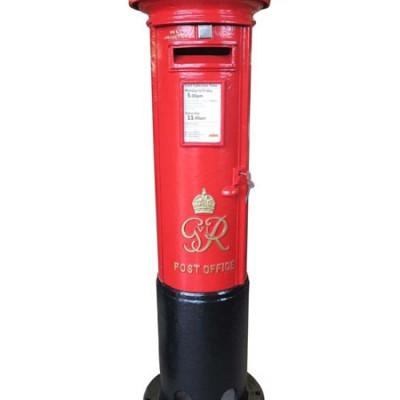 Royal Mail Original Cast Iron 'George VI' Pillar Box