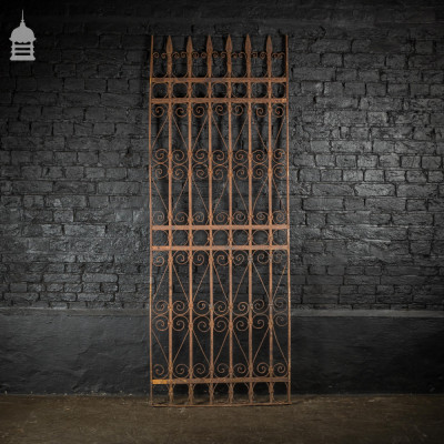 Georgian Wrought Iron Railing Gate with Spear Top