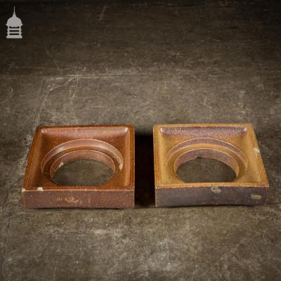 Pair of Reclaimed Royal Doulton Salt Glazed Drain Tops