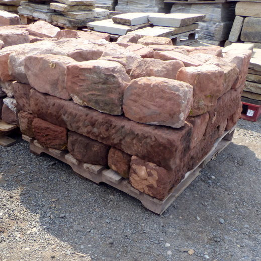 Reclaimed Red Cheshire Sandstone