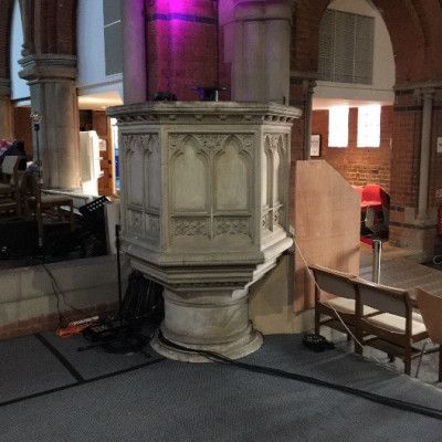 Victorian stone church pulpit