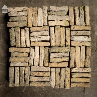 Batch of 310 Small 18th C Handmade Buff Bricks