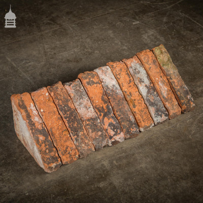 Batch of 64 Reclaimed Angled Quarter Coping Bricks