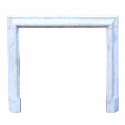 Antique English Bolection Marble Fire Surround