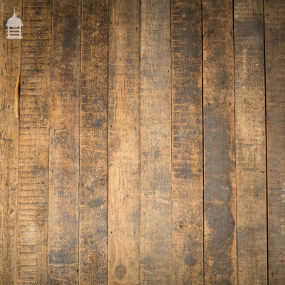 Batch of 6 Square Metres of Reclaimed Pine Floor Boards Wall Cladding