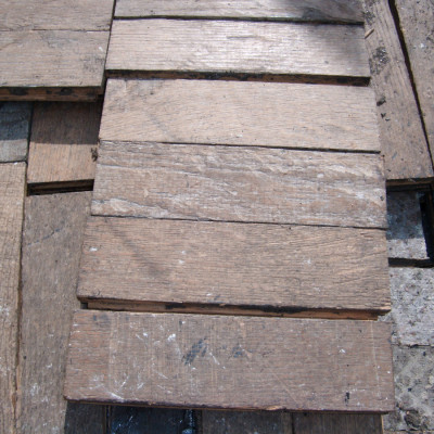 Oak parquet woodblock flooring