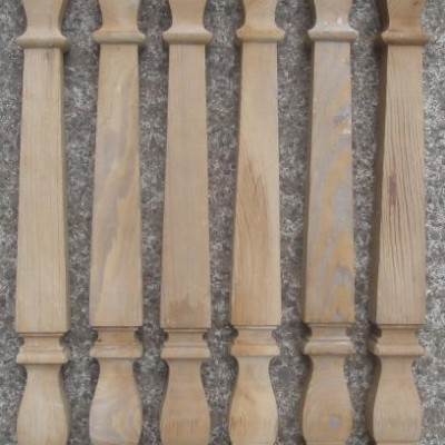 Pitch pine spindles
