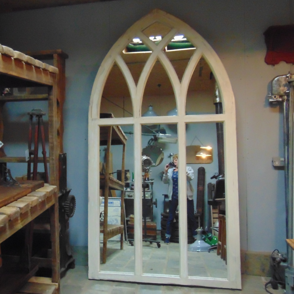 Arched Architectural Window Mirror