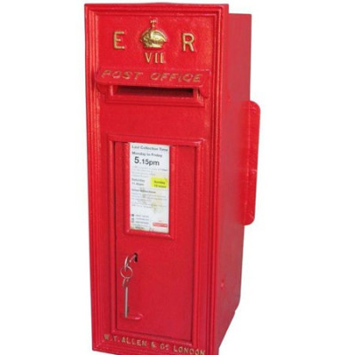 Antique Royal Mail Wall Mounted Cast Iron Edward 7th Post Box