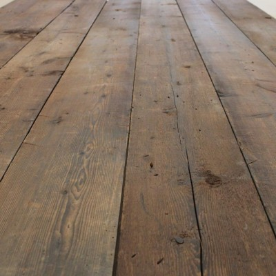 Antique reclaimed pine floorboards