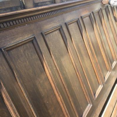 Edwardian oak wall panneling