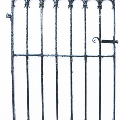 19th Century Victorian Wrought Iron Pedestrian Gate