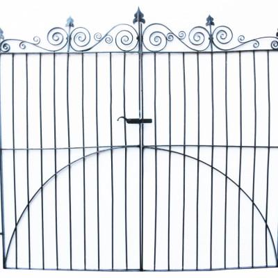 Pair Of Wrought Iron Georgian Pedestrian Gate