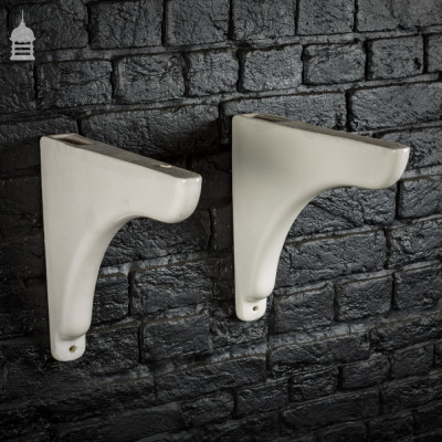 Pair of Reclaimed Ceramic Sink Brackets