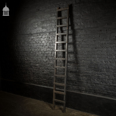 Reclaimed Industrial Black Painted Workshop Ladder