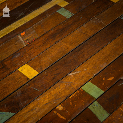 50 Square Metres of Reclaimed Mahogany Strip Floor Boards Gymnasium Flooring