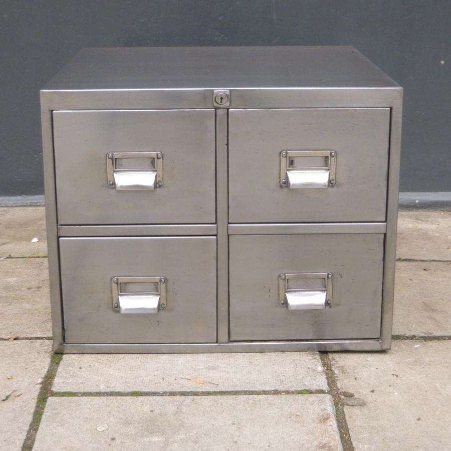 Industrial Polished Metal Cabinet