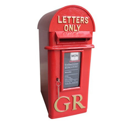 Cast Iron Pole Mounted Royal Mail Letter Box