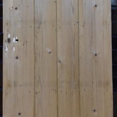 An early beaded 4 plank ledged pine door.