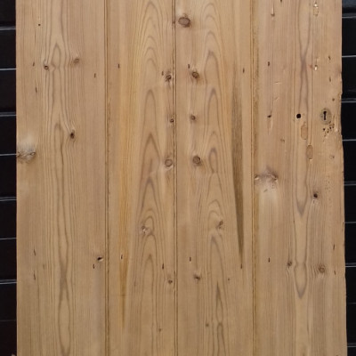 A beaded 4 plank ledged pine door