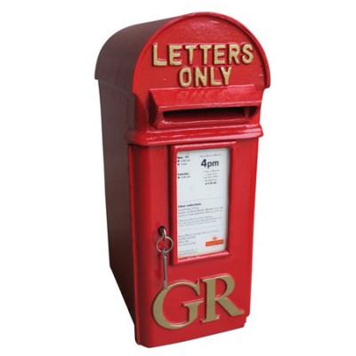 Genuine Cast Iron George 5th 'Hovis' Pole Mounted Post Box