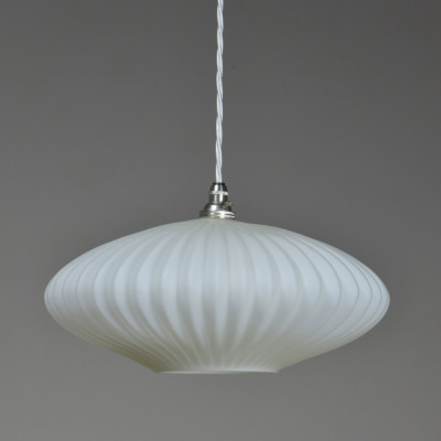 "Waved ""UFO"" Opaline Shade"