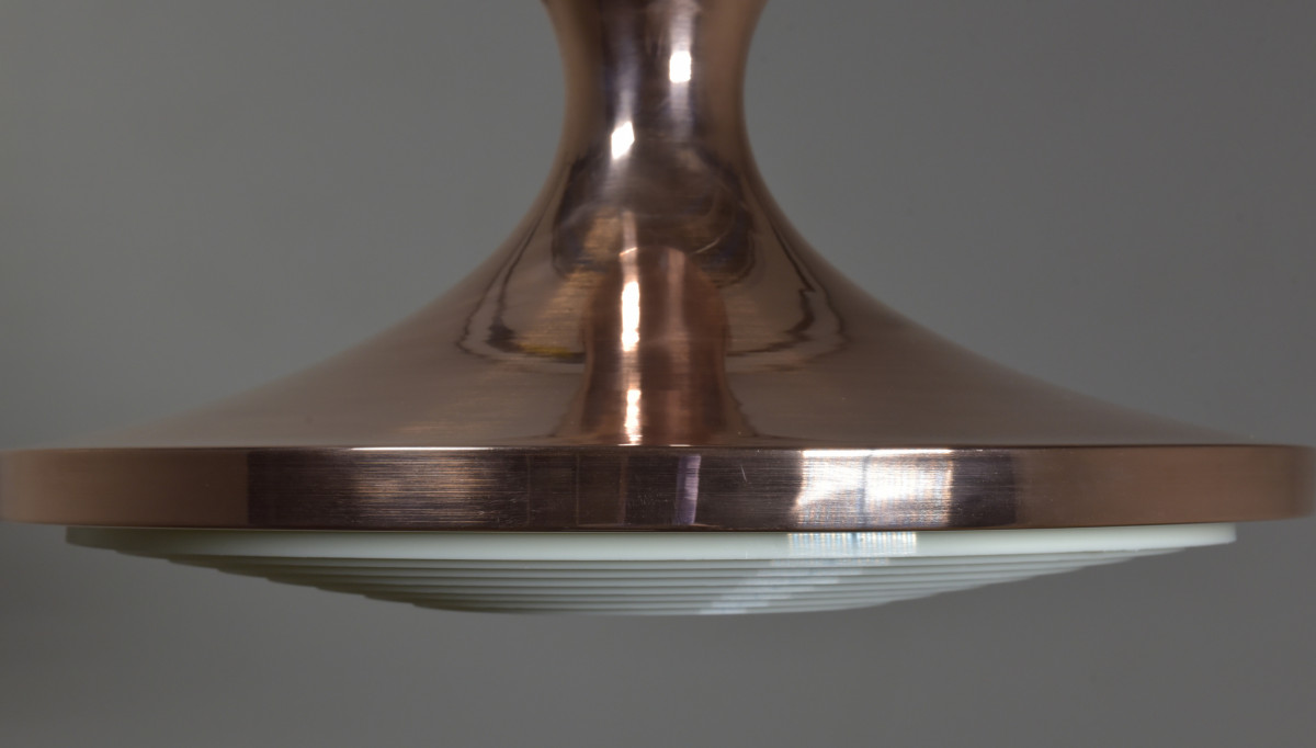 Large Spun Brass Pendant