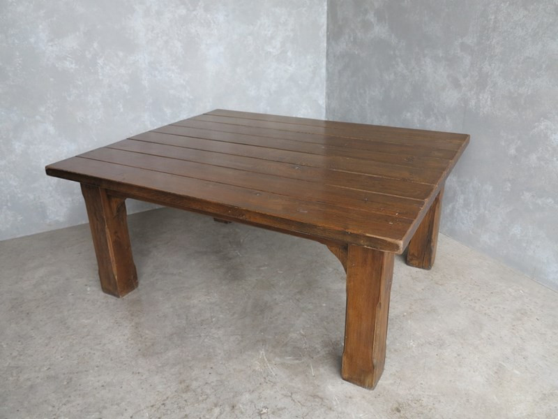 31c355f302418 For Sale 8 Seater Antique Gothic Oak Kitchen Table- SalvoWEB UK