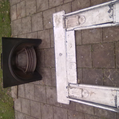 Slate surround to Victorian Fireplace