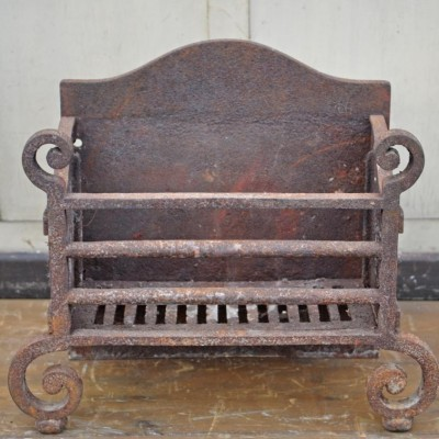 nineteenth century cast iron dog grate