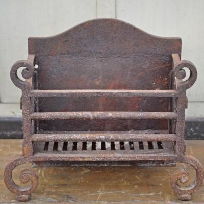 nineteenth century cast iron dog grate