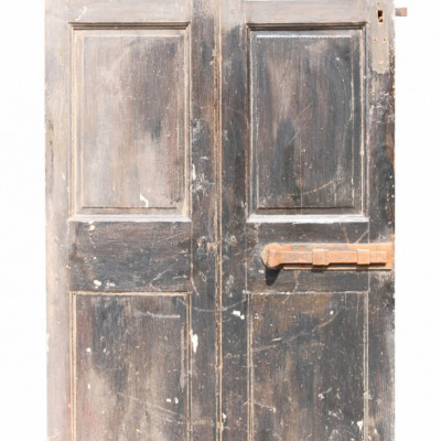 18th Century Rustic Painted Pine Door