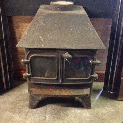 Fire Old Salvaged Cast Iron Fire Stove Gas Fire Unrestored Free Standing  Fire stove 005