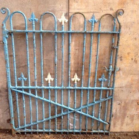 "Reclaimed Wrought Iron Gate - 38"" wide"