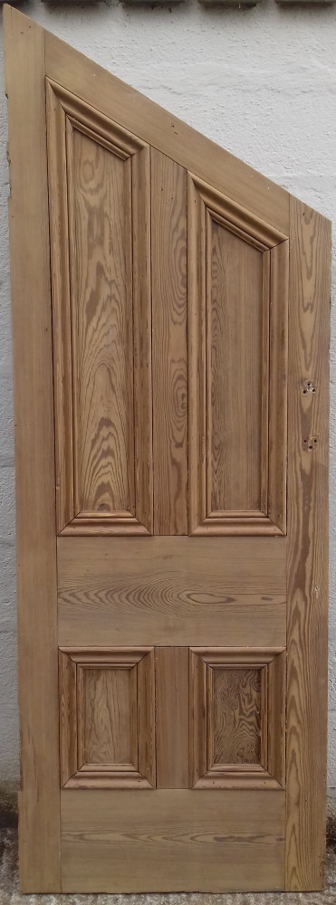 Victorian 'understairs' 4 paneled pitch pine door.