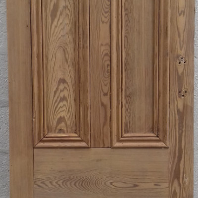 Victorian 'understairs' 4 paneled pitch pine door.