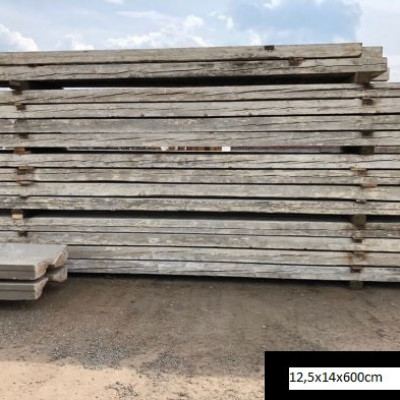 Reclaimed pine beams - 12,5x14x600cm
