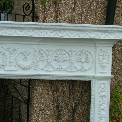 Large ornate painted chimneypiece