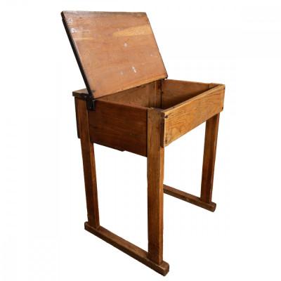 Reclaimed Oak School Desk