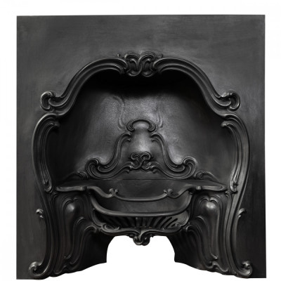 Antique Rococo Cast Iron Horseshoe Insert