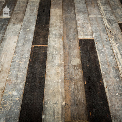 "Batch of 19 SqMs of Reclaimed Victorian 7.5"" Wide Pine Floorboards"